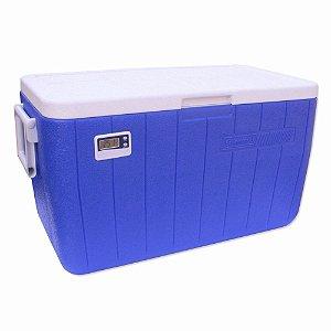 Caixa Térmica 48QT - 45,4 litros Azul Com Termômetro - COLEMAN