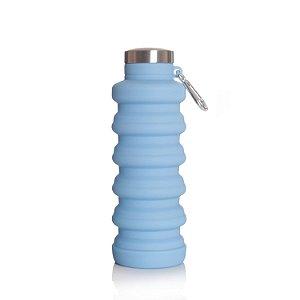 Garrafa Silicone Retrátil Dobrável Azul 500ml - GÎTE