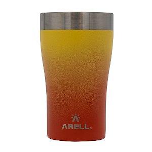 Copo Térmico de Cerveja 500ml Laranja Sunset - Arell