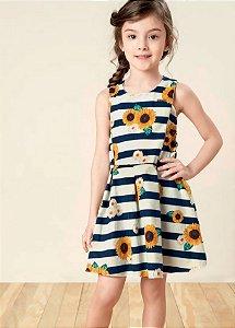 Vestido Margarida tricoline/ voil - Carinhoso
