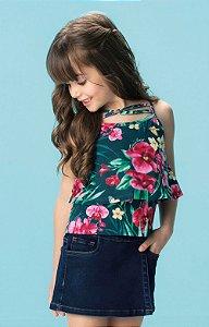 Blusa estampada floral - Carinhoso
