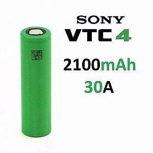 Bateria 18650 Li-Ion US 18650 VTC4 3.6V 2100mAh High Drain 30A Flat Top - Sony UNITÁRIO
