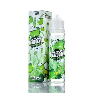 Líquido BAZOOKA SOUR STRAWS ICE - GREEN APPLE