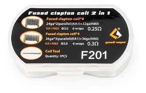 Prebuilt Coil  F201 N80 Fused Clapton Coil 2 In 1 - Geek Vape