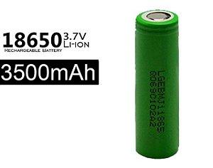 Bateria 18650 Li-Ion LG Verde 18650 3.7V 3500mAh High Drain 20A - UNITÁRIO
