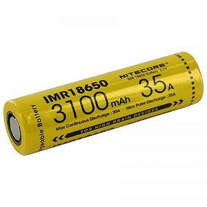 Bateria  18650 de Lithium POWER IMR 35A 3100 mAh -  Nitecore