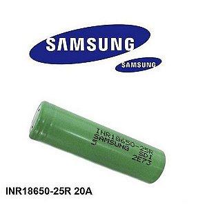 Bateria 25R Samsung 18650 2500 mAh INR18650 de Li-Ion  de 3.7V 20A