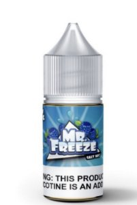 LÍQUIDO BLUE RASPBERRY SALT NICOTINE - MR. FREEZE