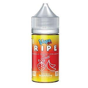 Líquido Nicotine Salt Straw Nanners ICE - Ripe Vape 100