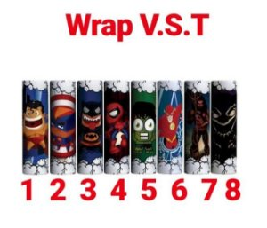 WRAP PARA BATERIA 18650 - PERSONAGENS