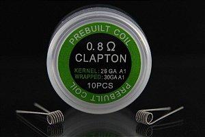 CLAPTON  0.8 PACK COM 10 - COIL'S PREBUILT COIL