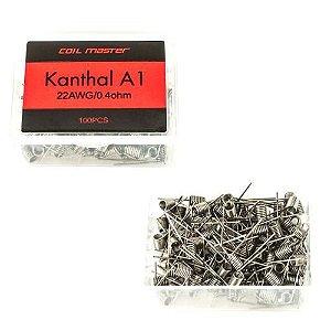 Resistências Prontas | Kanthal A1 | 100 unidades - Coil Master