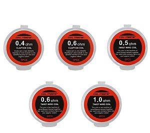 Prebuilt Coil Resistências Prontas | Clapton Coil + Algodão| - 5 unidades - Coil Master