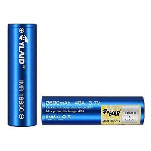 Bateria 18650 Li-Mn IMR 18650 CYLAID 3.7V 2600 mAh High Drain 40A - Unitário