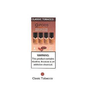 QPODS NicSalts Tobacco Cartuchos 0.9ml Compatível Com JUUl