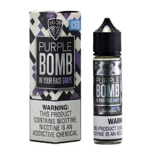 Líquido Purple Bomb Grape ICED  Premium American - Vgod