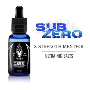 LÍQUIDO SUBZERO X STRENGTH MENTHOL - ULTRA SALTS - HALO