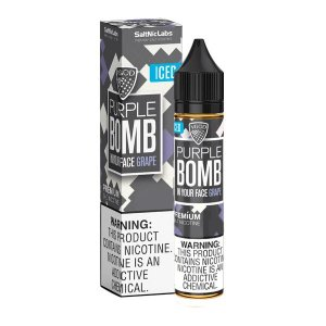 Líquido Purple Bomb GRAPE ICED - SaltNic / Salt Nicotine - VGOD SaltNic