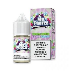 LÍQUIDO GREEN APPLE GRAPE FROST SALT NICOTINE - MR. FREEZE