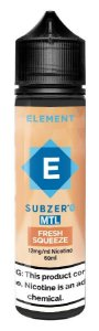 LÍQUIDO ELEMENT SUBZERO MTL FRESH SQUEEZE - ELEMENT