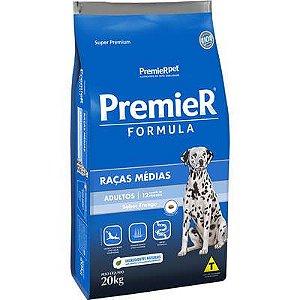 Ração premier super premium raças médias adulto 20kg