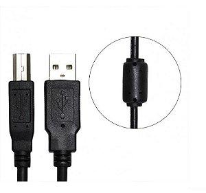 Cabo Para Impressora AMxBM USB 2.0 Preto com Filtro CBX-U2AMBM20B