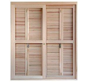 Porta-janela Rondosul pantográfica EWK 460 Angelim 140x213cm