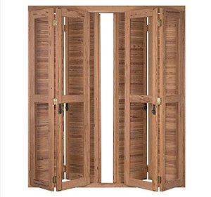 Porta-janela Rondosul pantográfica-pantográfica 466 Angelim 200x213cm
