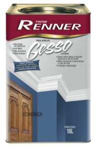 TINTA PARA GESSO 18L RE4301 - RENNER