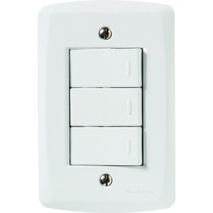 Conjunto 4X2 - 3 interruptores simples 10A 250V~ Cód. 57145070 - Tramontina