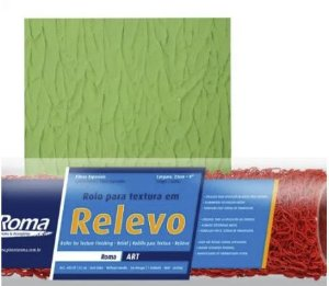 Rolo Textura 10 cm Relevo - Cód. 433.10 - ROMA