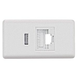 Módulo Tomada para Telefone RJ11 cor branco - Cód. 57115/051- TRAMONTINA
