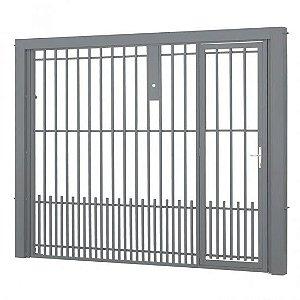 Portão Contrapeso Grade 245x220 Ref 4005 Esquerdo