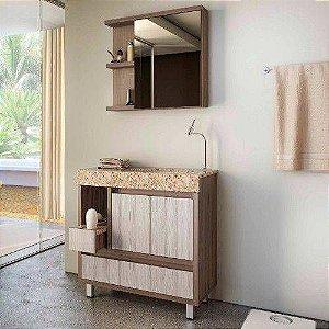 Móvel Para Banheiro 80cm Onix