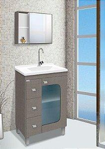 Móvel para Banheiro 60cm Stilo Grigio
