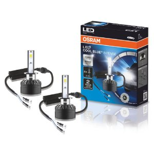 Par De Lâmpada Led Cool White Intense H1 6000k Osram