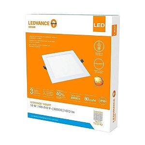 Painel Plafon de Embutir Ledvance 18w/865 6500K Quadrado