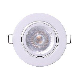 Spot Led Dicroica Redondo Embutir 4.5W 3000K Branco Quente