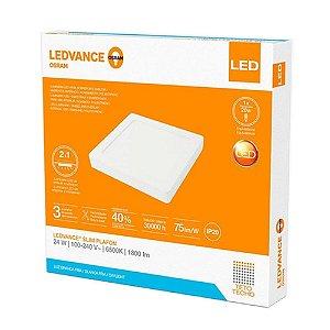 Painel Plafon Led Embutir/Sobrepor Ledvance 15W 3000K 20x20