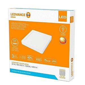 Painel Plafon Led Embutir/Sobrepor Ledvance 24W 6500K 23x23