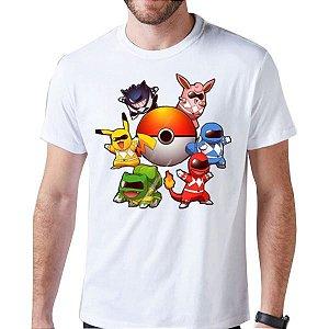 Camiseta Unissex - PokeRangers - Pokemon