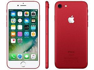 """iPhone 7 Apple Red - Vermelho 128GB, Tela Retina HD de 4,7"""" com 3D Touch, iOS 10, Sensor Touch ID, Câmera 12MP, Resistente à Água, 4G LTE e NFC – Vermelho"""