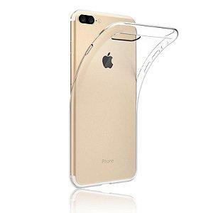 Capinha TPU Transparente Flexível para IPhone 7 Plus + Película de Vidro