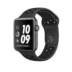 Relógio Apple Watch Nike+ Series 2 42mm Caixa Cinza Espacial de Alumínio com pulseira Esportiva Nike cinza-carvão/preta 8GB - GPS Integrado Resistente a Água