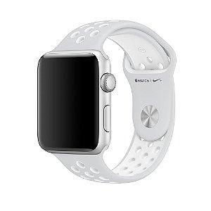 Relógio Apple Watch Nike+ Series 2 42mm Caixa Cinza Espacial de Alumínio com pulseira Esportiva Nike platina/branca 8GB - GPS Integrado Resistente a Água