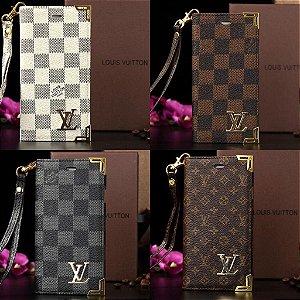 "Capinha tipo carteira Louis Vuitton para iPhone 6 Plus / 6s Plus tela de 5.5"" polegadas"