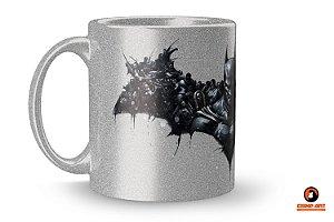 Caneca Metálica Prateada Batman