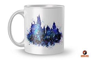 Caneca Harry Potter - Hogwarts Azul