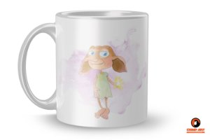 Caneca Harry Potter Aquarela - Dobby