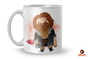 Caneca Harry Potter Aquarela - Hagrid